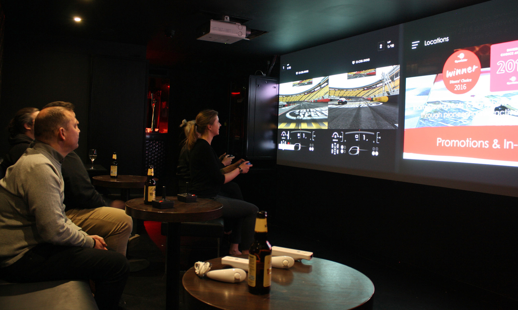 Inamo Soho london restaurants foodie tech games room guests