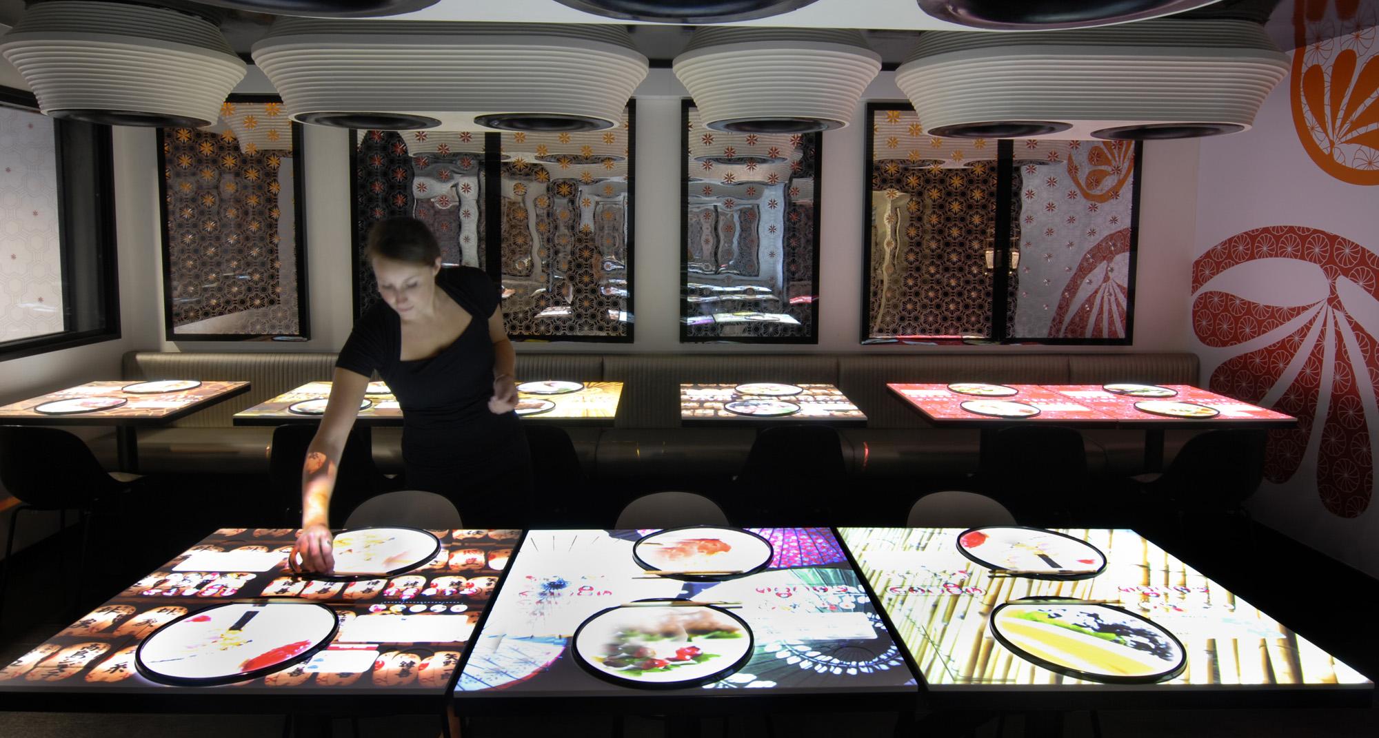 Inamo soho london interactive games table