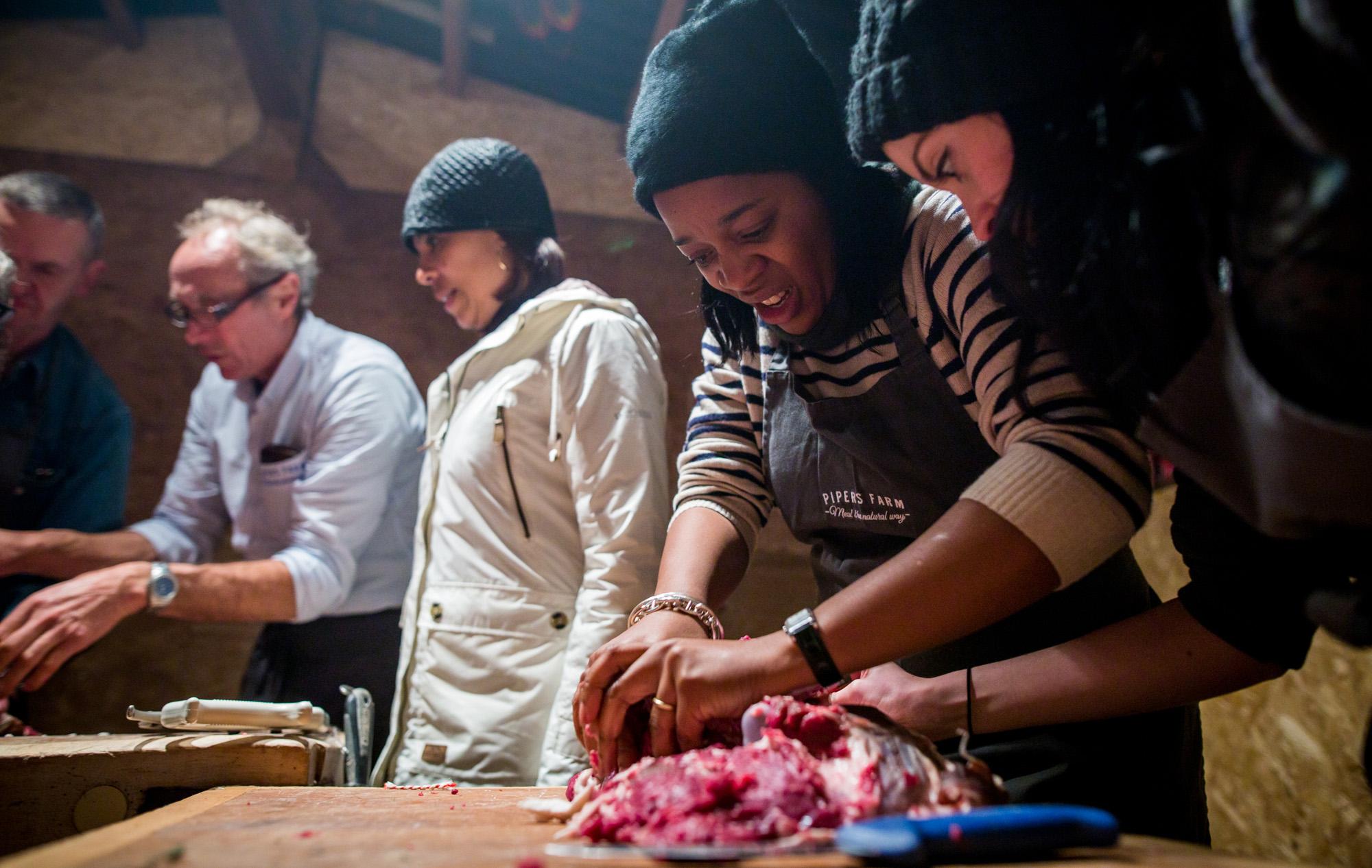 Teambuilding The Feast Project at Huntsham Court - credit Luna Photography