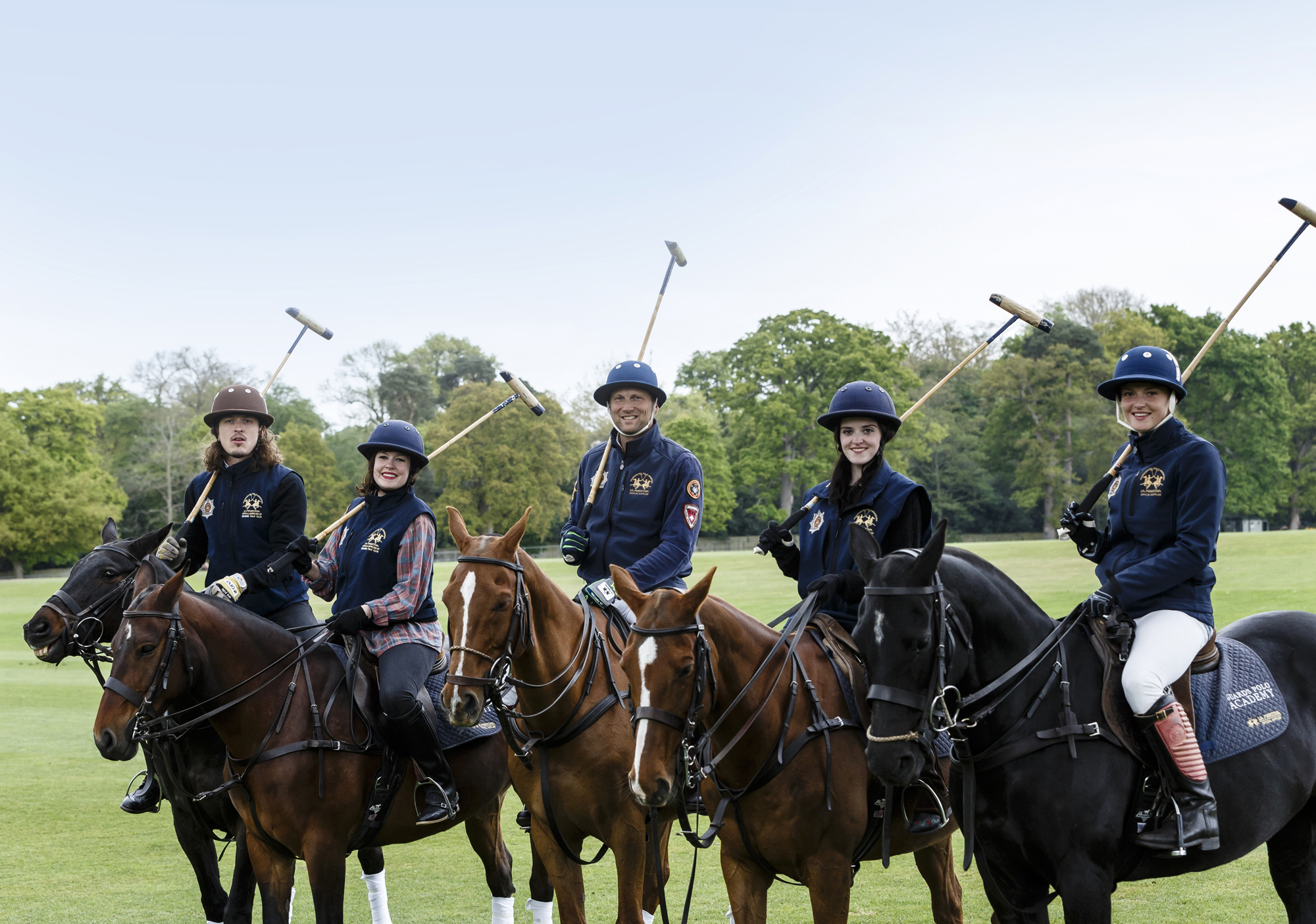 Teambuilding Guards Polo Academy masterclass at Coworth Park - credit miles willis