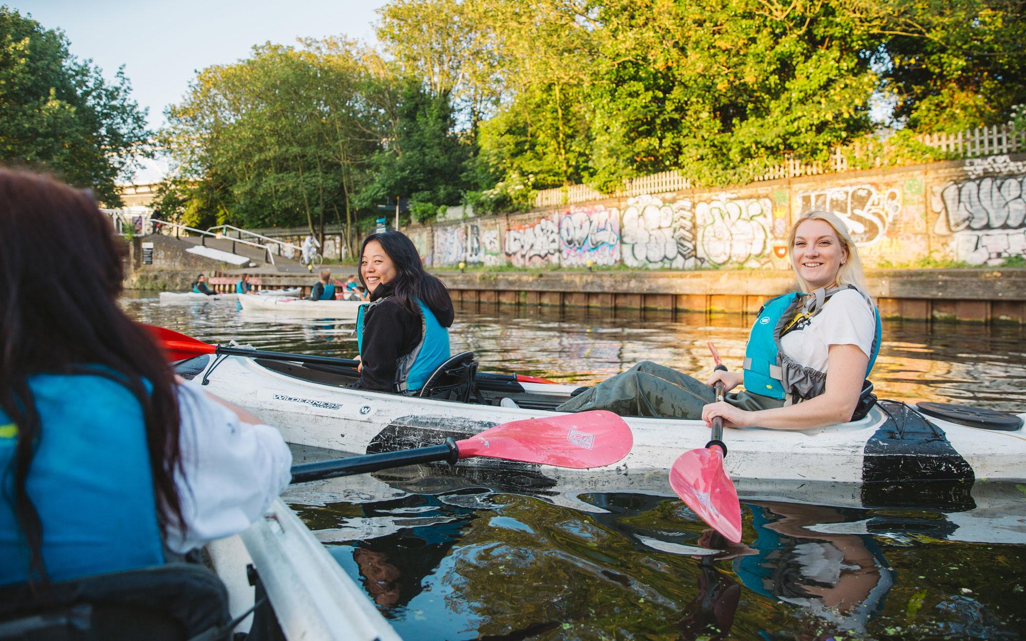 Kayaking secret adventures away day teambuilding