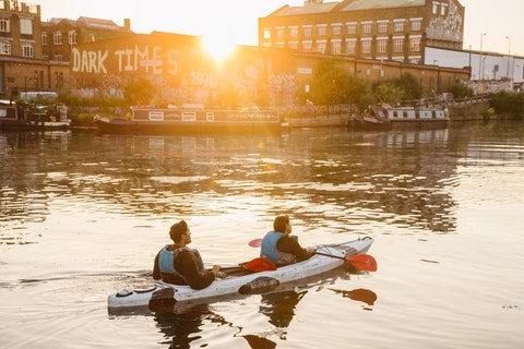 Kayak your way to pizza and beer