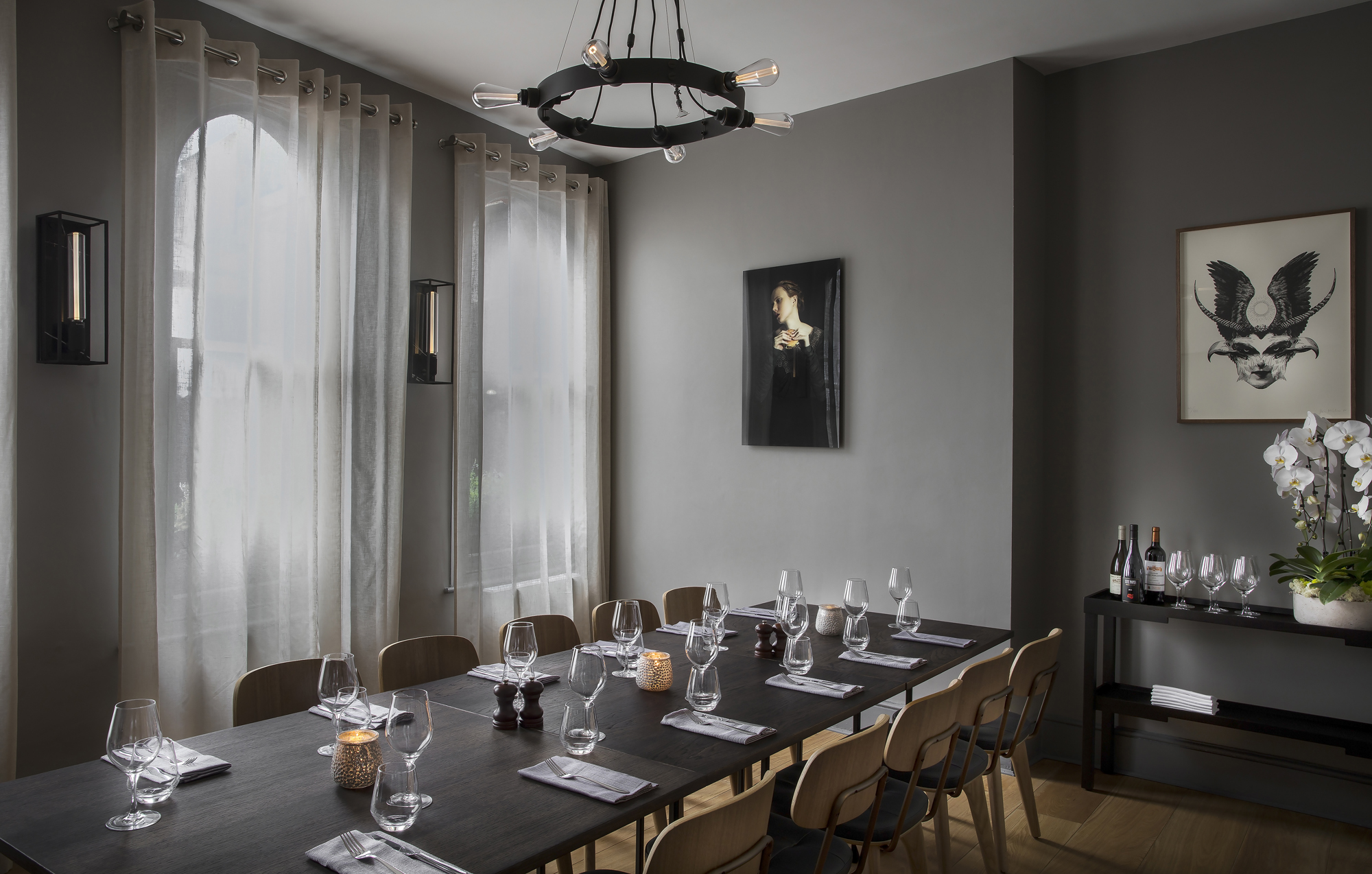 Arthur Hooper private dining room Borough