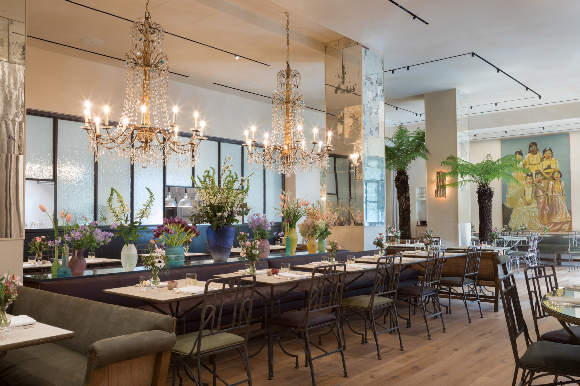 Petersham Nurseries Covent Garden london restaurants private dining main dining area