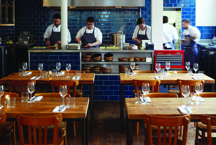 Clove Club shoreditch dining room and kitchen photo