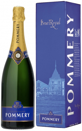 Pommery Champagne with box blue