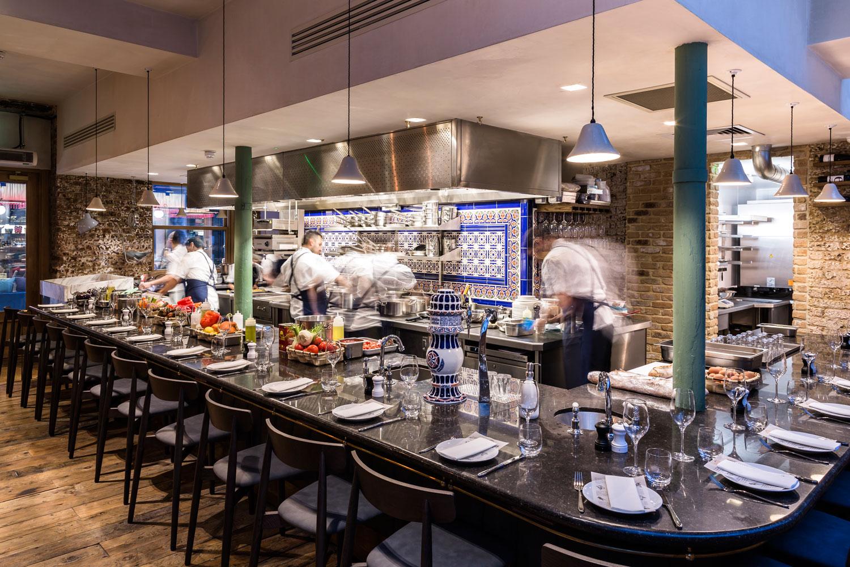 Sabor restaurant interior open kicthen