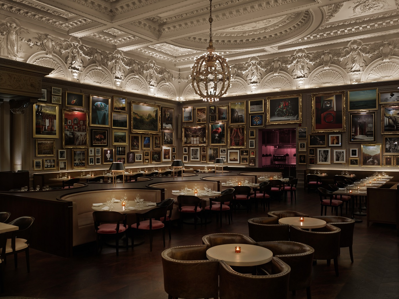 The interior at Berners Tavern