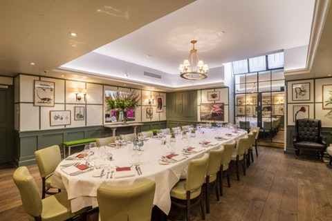 Large private dining rooms in the City