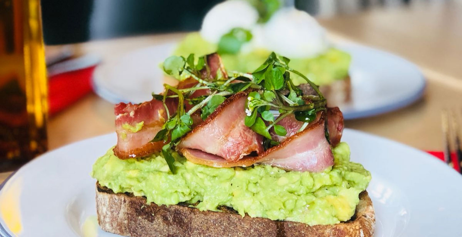 bacon avocado on toast