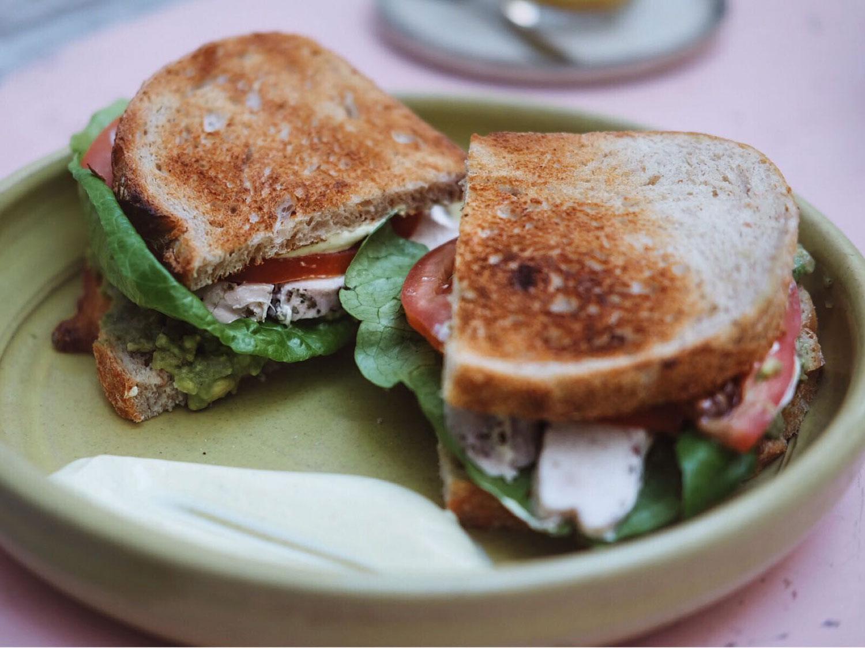 Farm Girl Cafe London Chelsea sandwich