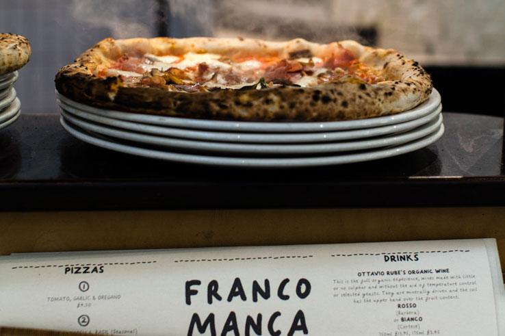 Franco Manca pizza restaurant chain London