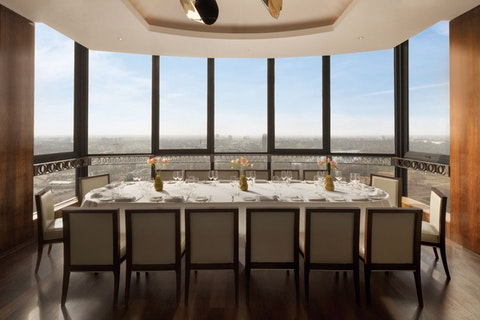 Private dining rooms with stunning views of London