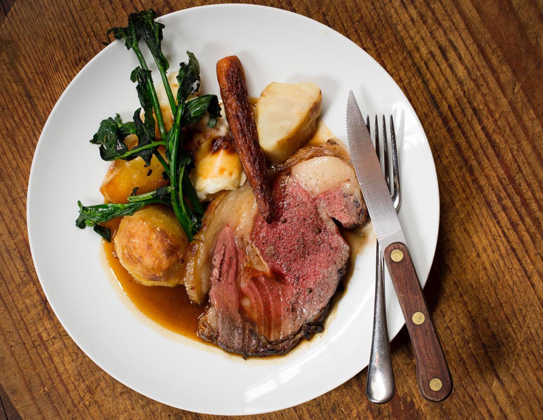 Merchanst Tavern sunday roast vegetables meat