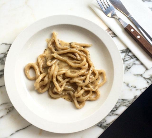 Padella London restaurant pasta Italian Pici cacio e pepe