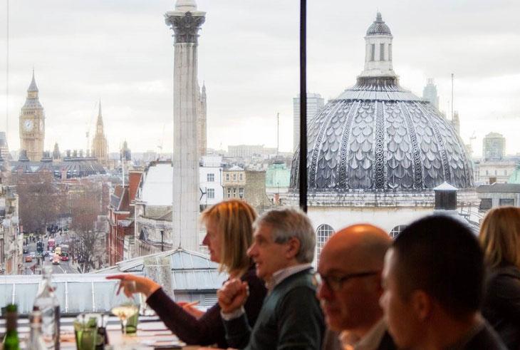 The Portrait Restaurant at the National Gallery Trafalgar Square London