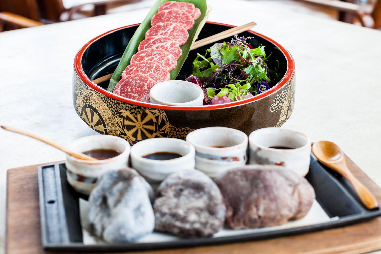 wagyu beef hot stone