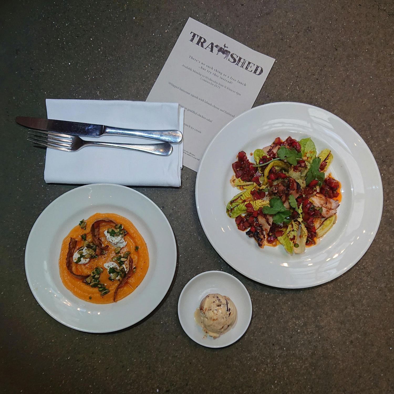 plates on table menu