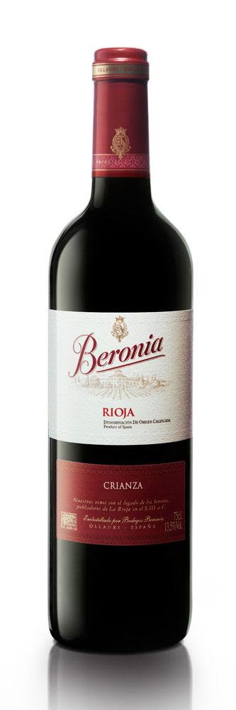 Beronia wines bottle shot
