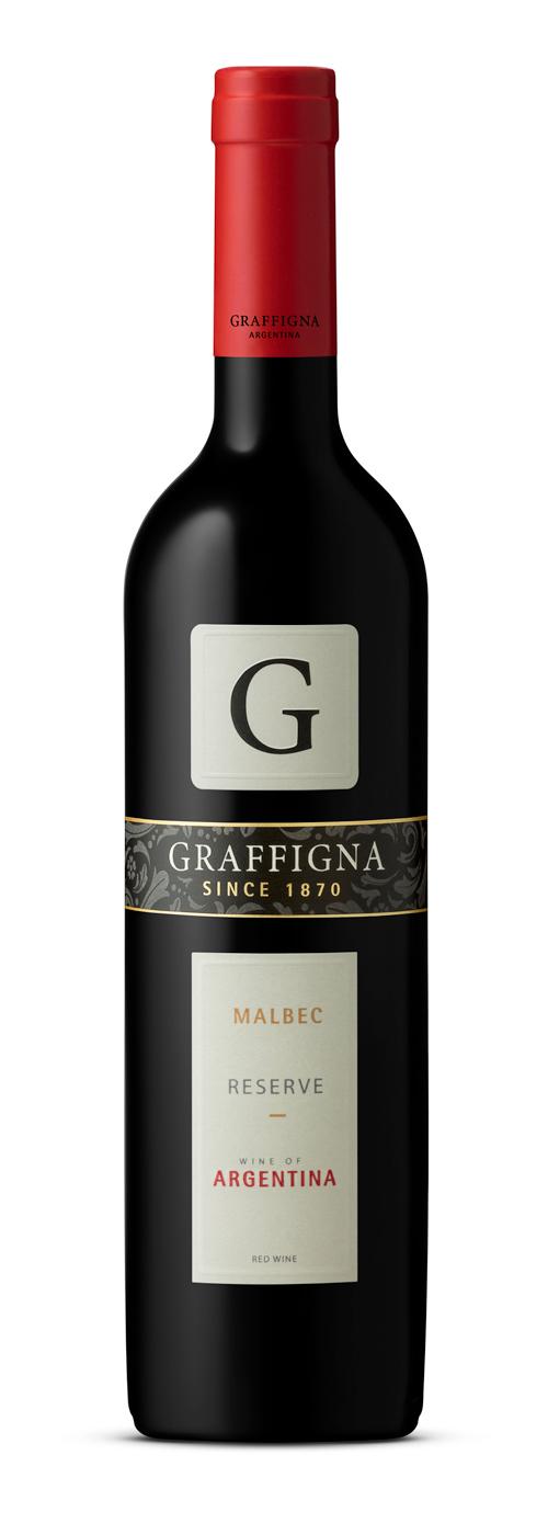 Graffigna wine bottle shot malbec