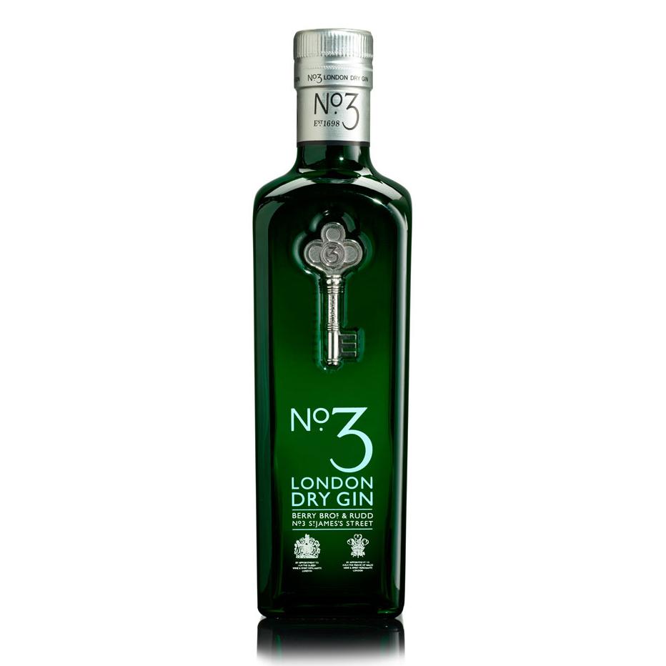 No3 gin white background