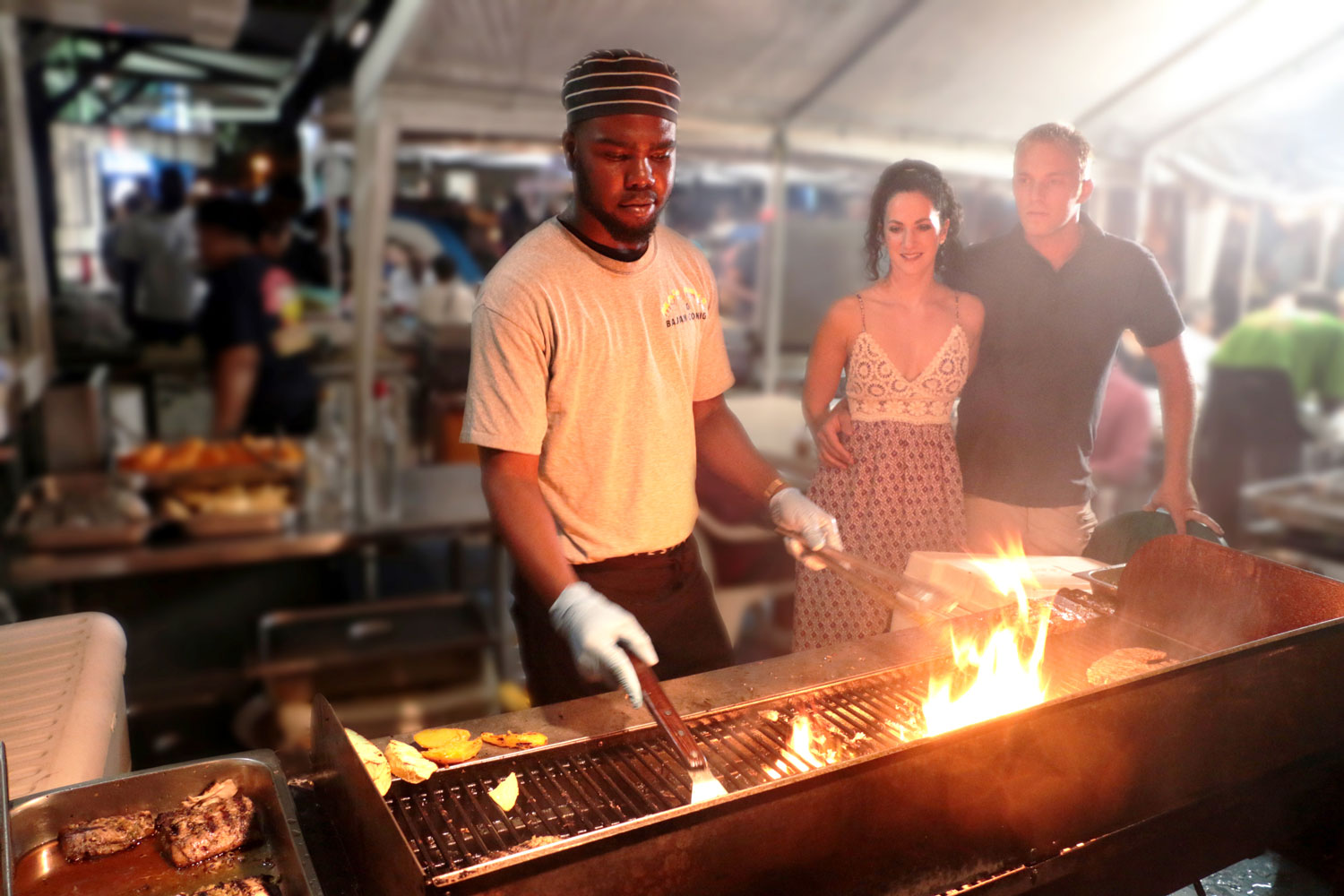 Barbados promotion SquareMeal chef grill guests