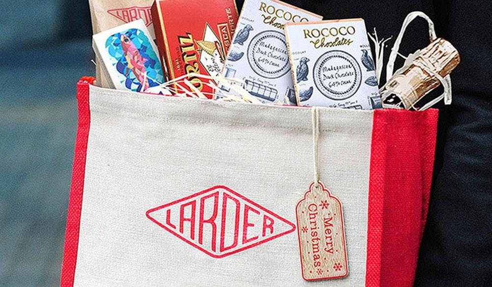 Win The Larder's £60 Christmas gift bag on Instagram