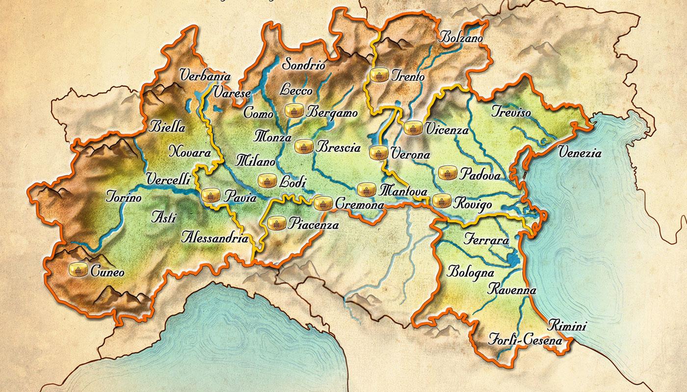 Grand Padano Map