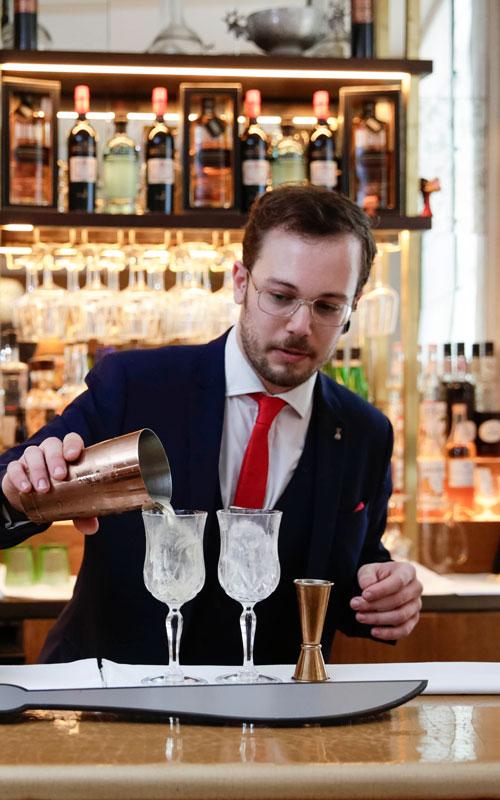 Tio Pepe Chris Calvert bartender mixing