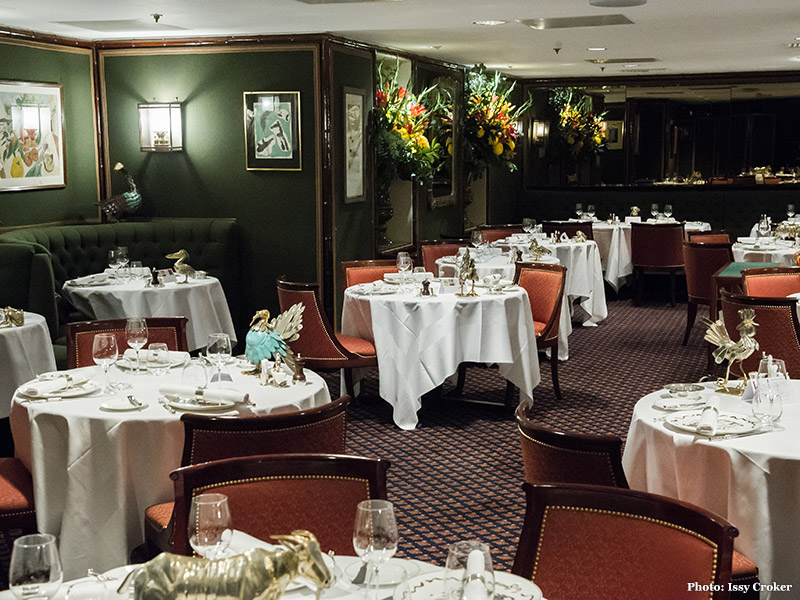 A seating area at Le Gavroche