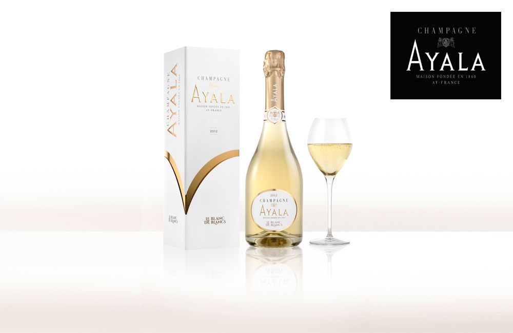 Ayala wine bottle with logo