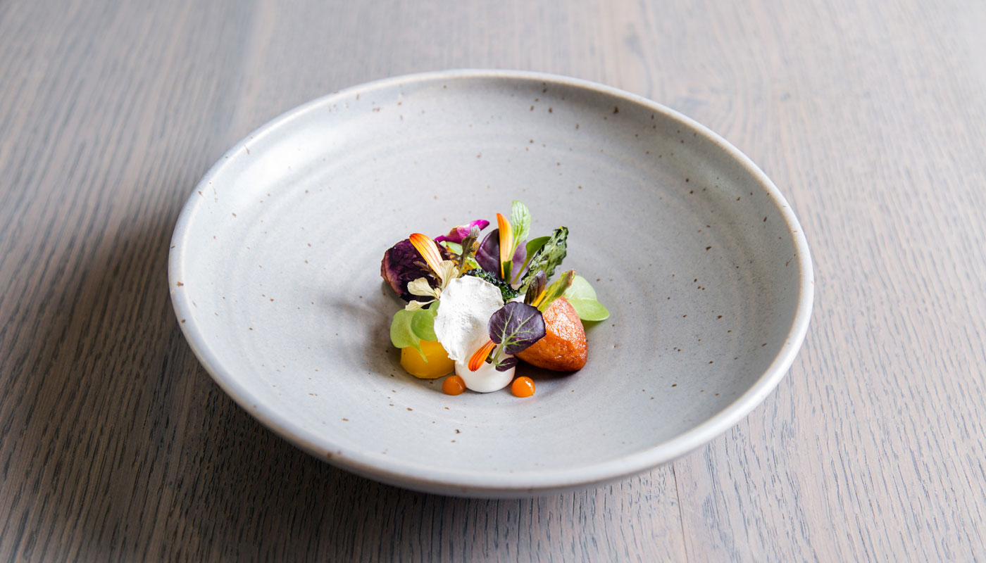 Casamia Bristol spring salad in white dish