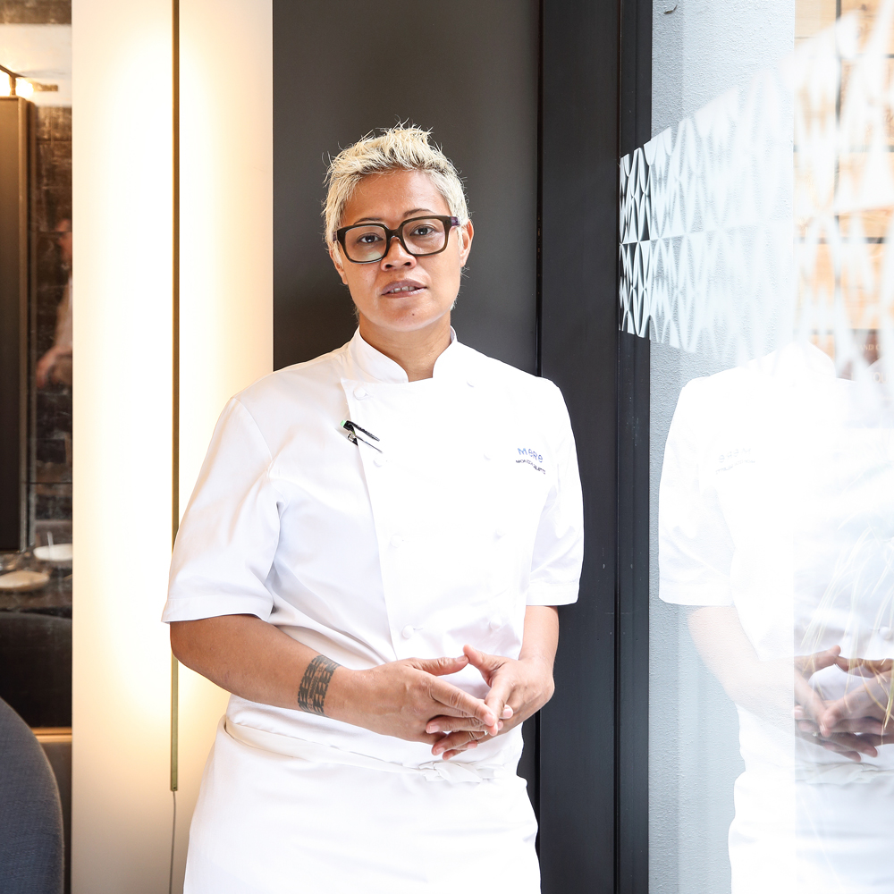 Monica Galetti chef in restaurant