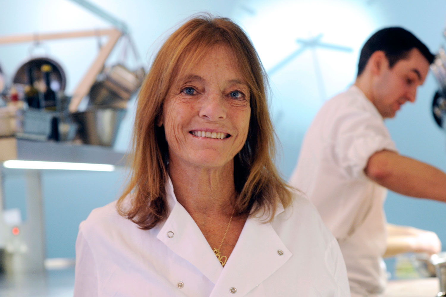 Ruth Rogers The River Café chef in chef whiites