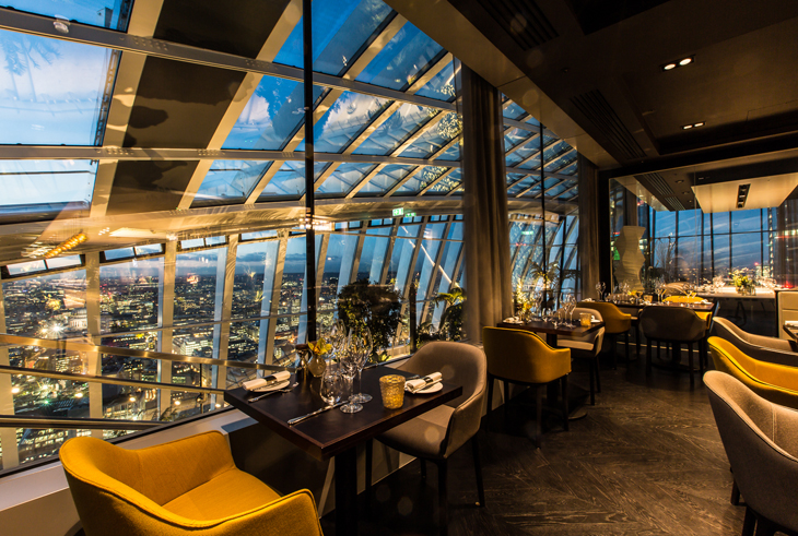 Fenchurch seafood bar and grill Walkie Talkie building