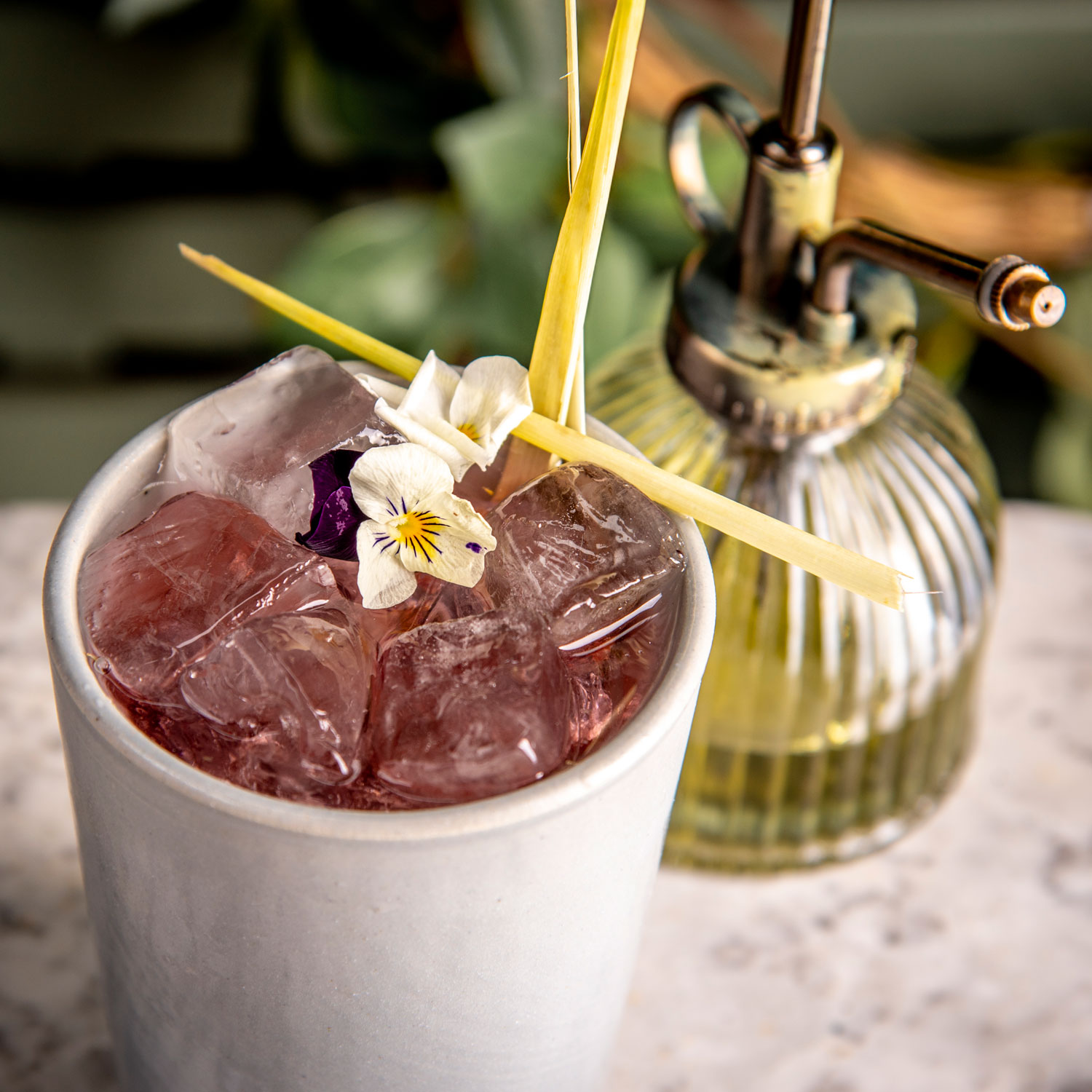 jasmine and peppermint cocktail