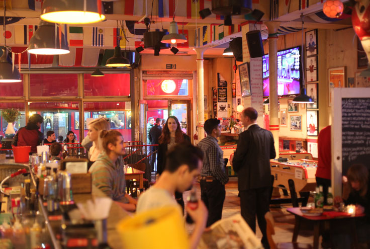 Bar Kick Shoreditch London table football