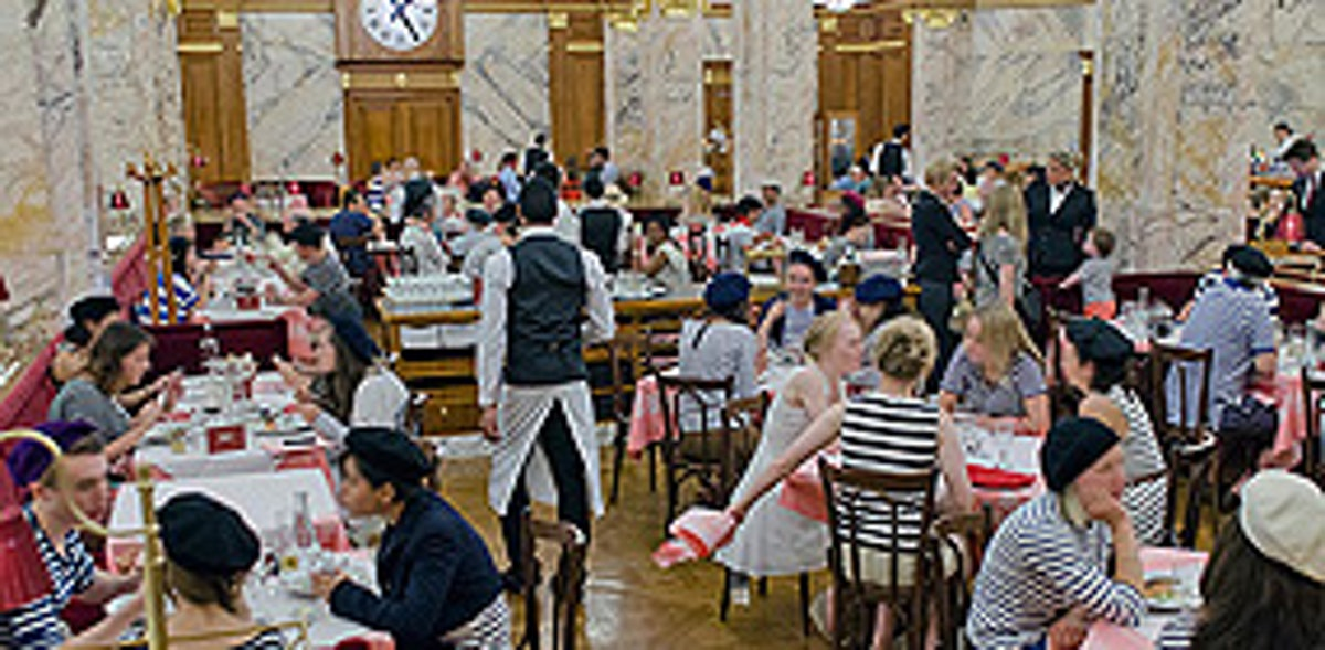 Brasserie Zedel- Dress up for Bastille day and eat for free from the menu formule