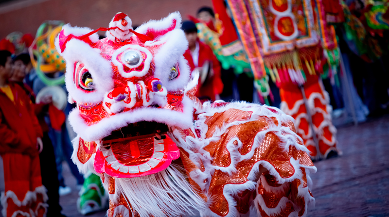 Chinese New Year dragon London