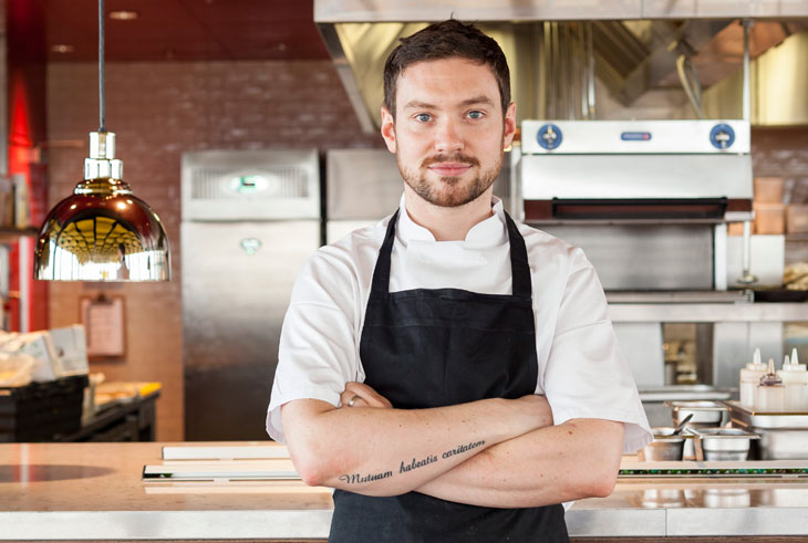 Dan Doherty (pictured right) chef of Duck and Waffle