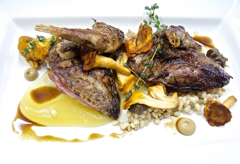 Enoteca Turi grouse with mushrooms and barley gravy