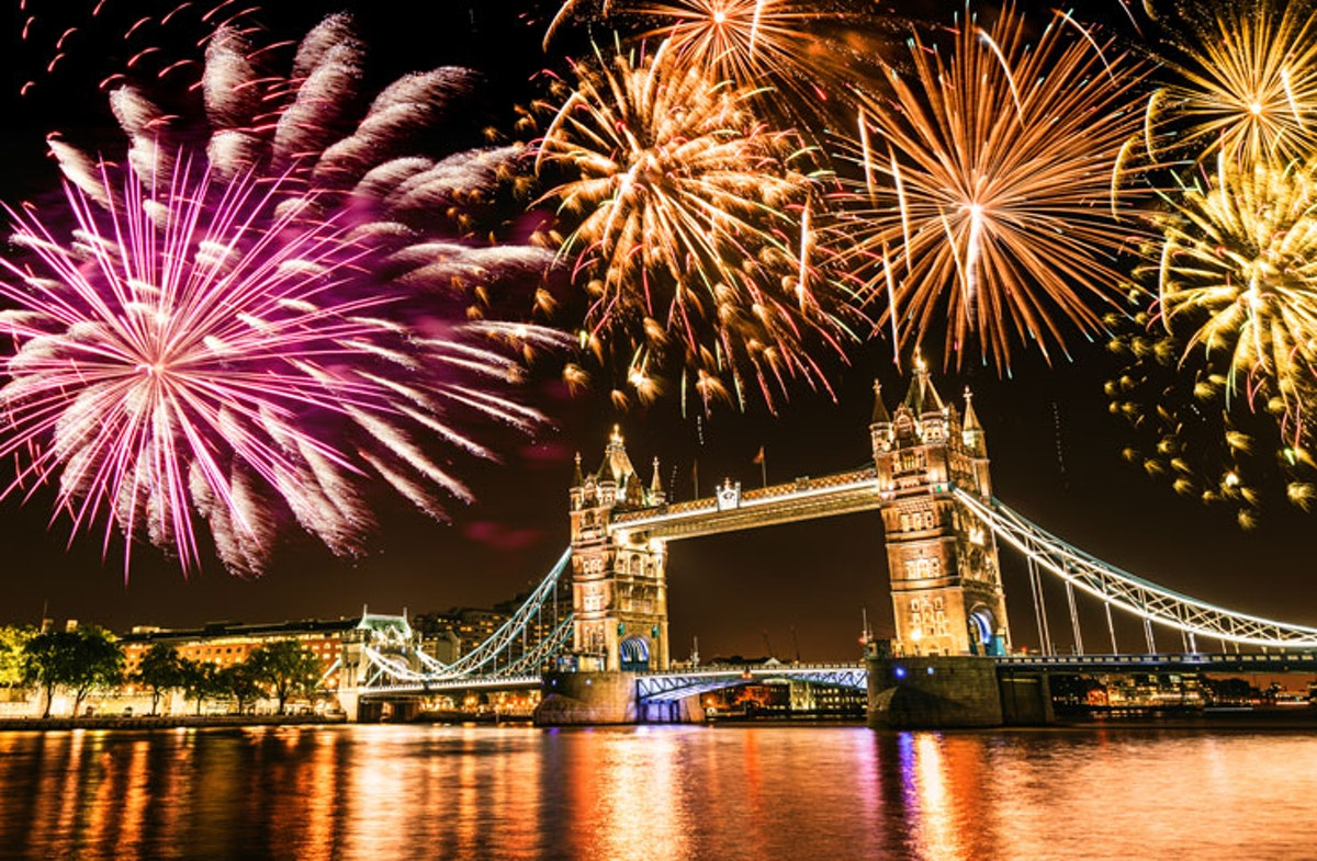 Flamin' hot London restaurants near firework displays