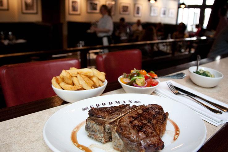 Goodman Mayfair steak grill British restaurant London