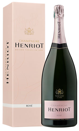 Rosé Champagne bottle Henriot