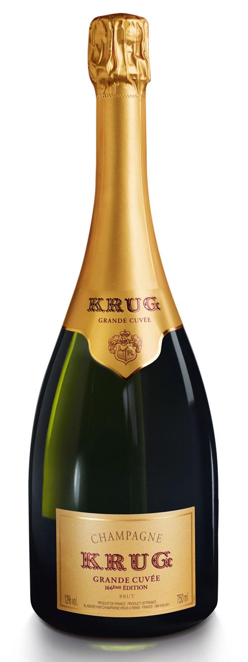 Champagne bottle shot Krug