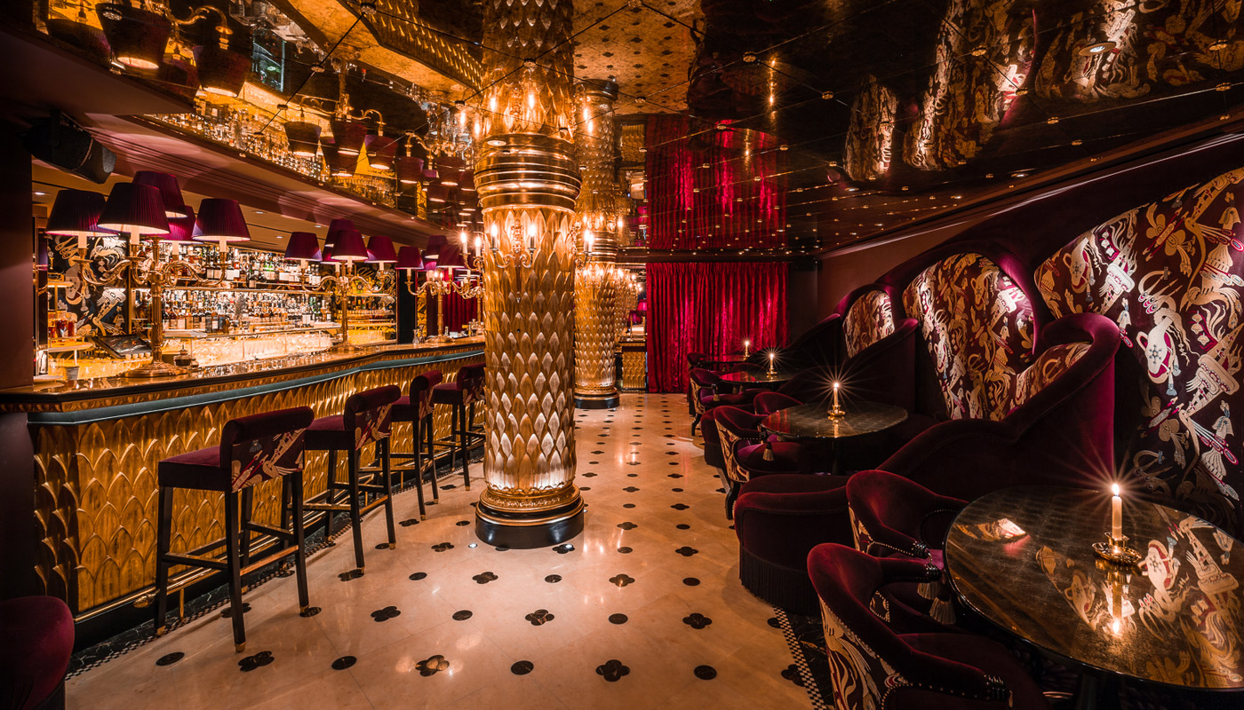 The basement private dining room at Park Chinois
