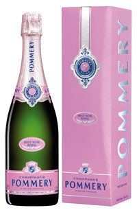 Rosé Champagne bottle Pommery with box