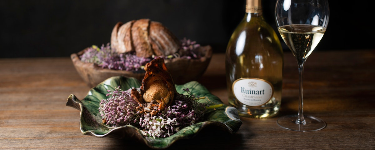 Food and Champagne make for an artistic partnership to savour at 108 Garage