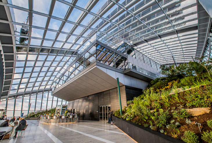 Sky Garden at the Walkie Talkie building 20 Fenchurch Street