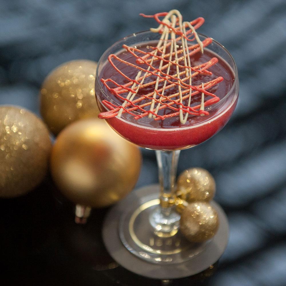 St PPancras International London restaurant bar red winter cocktail